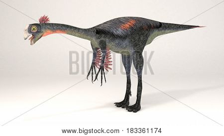 3D Computer rendering illustration of Gigantoraptor dinosaur