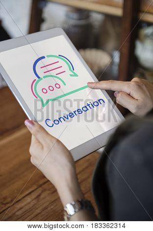 Digital tablet conversation communication
