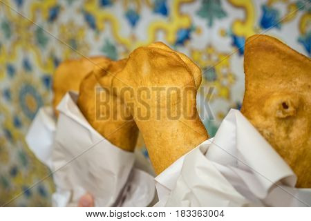 Traditional Fritta Food From Brindisi, Italy