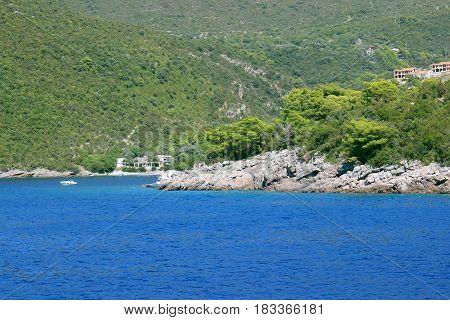 Herceg Novi. Kotor bay, Montenegro. Adriatic sea. Sea view