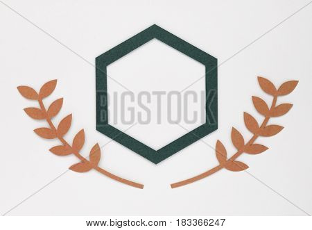 Blank banner isolated on white background
