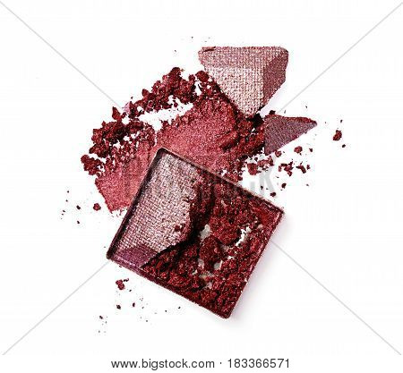 Smear Of Crushed Purple Eyeshadow As Sample Of Cosmetic Product