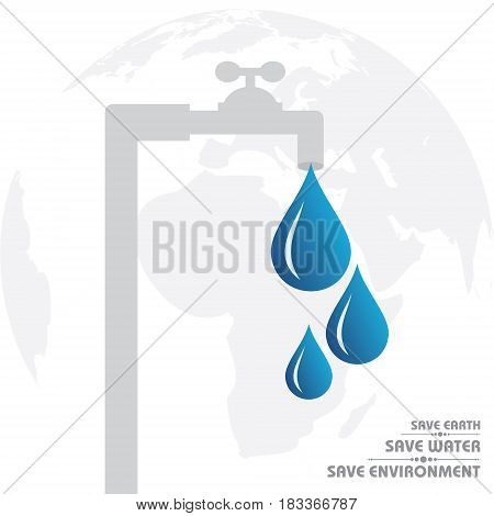 World Water Day Greeting Stock Vector illustration
