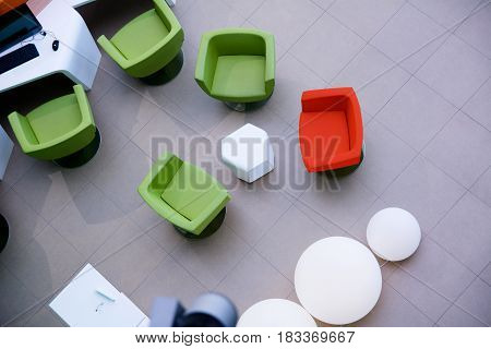 Top View Of A Workplace In The Office