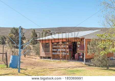 BARRYDALE SOUTH AFRICA - MARCH 25 2017: A book and curios shop in Barrydale a small town in the Western Cape Province