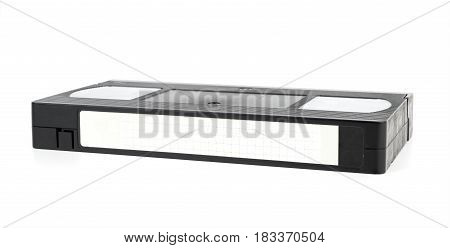 Black Video tape with empty lable for mock up