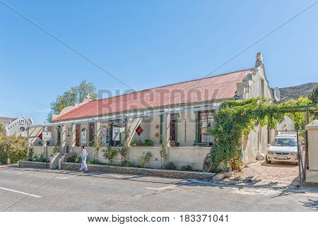 BARRYDALE SOUTH AFRICA - MARCH 25 2017: A guest house in Barrydale a small town on the scenic Route 62 in the Western Cape Province