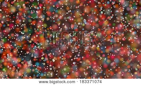 Beautiful colorful bokeh blurred background with defocused lights