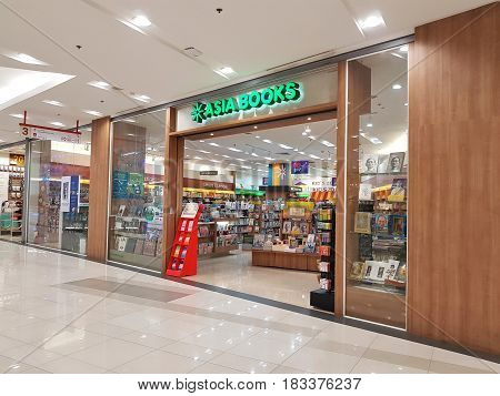 BANGKOK THAILAND - MARCH 30 : Asia Book book store at Central Chaengwattana department store on March 30 2017 in Bangkok Thailand.