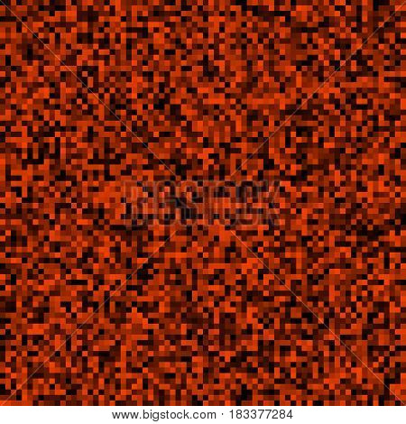 Abstract background of small pixels. Pixel texture for your projects. The dark red color of the lava and fire. Vector illustration. EPS 10