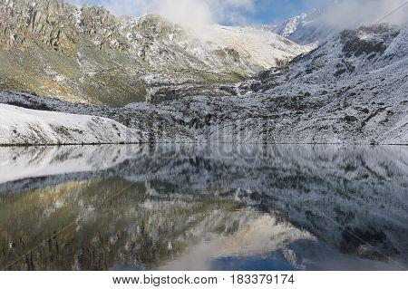 Beautiful Autumn Landscape, Altai Mountains Russia.