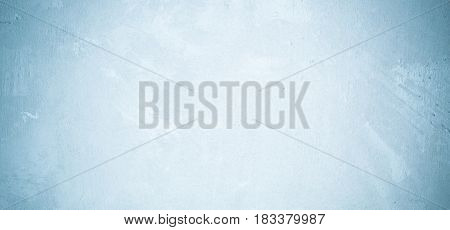 Blank grunge cement wall texture background banner blue colored