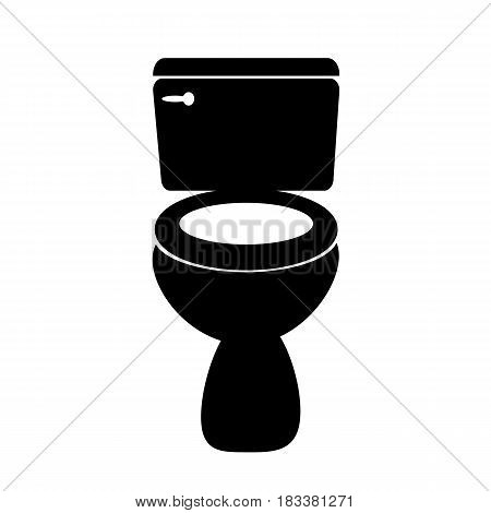 Toilet icon on white background. Toilet sign.