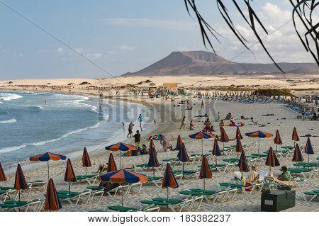 Corralejo Beach In Fuerteventura, Editorial