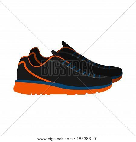Sneakers, sport shoes isolated on white background. footwear for sport and casual look vector illustration.
