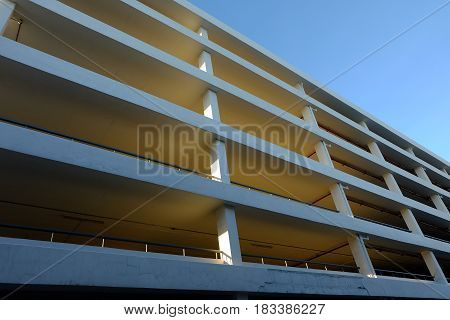 Multi Storey Parking. Industrial building Car Parking.