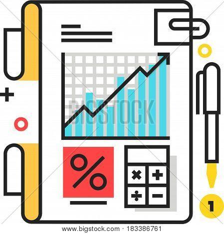 Color Box Icon, Tax Law Illustration, Icon