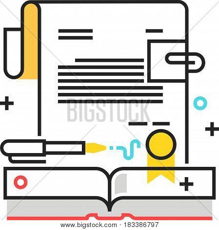 Color Box Icon, Sign Paper Illustration, Icon