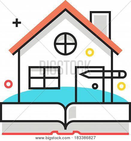 Color Box Icon, Real Estate Illustration, Icon