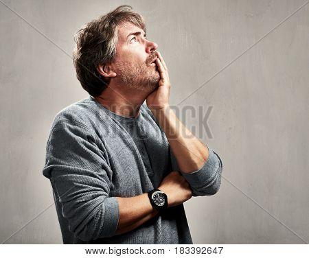 Anxious worried man