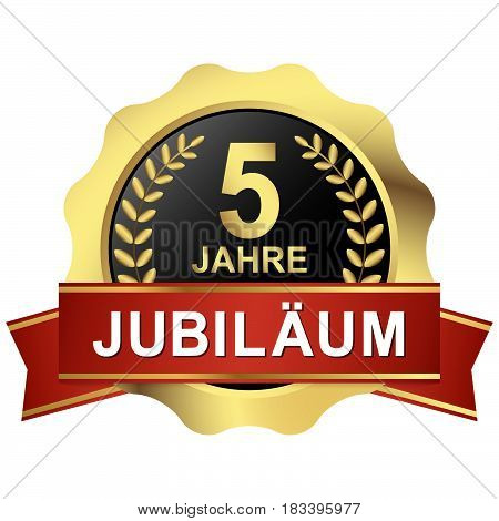 Button 5 Years Jubilee (in German)
