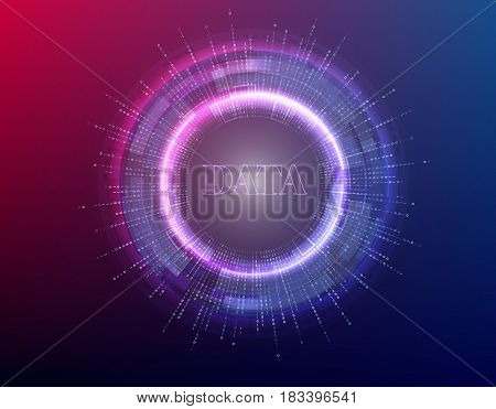 big data background vector illustration. Information streams. Future technology