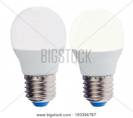 modern led lamp isolated on white background