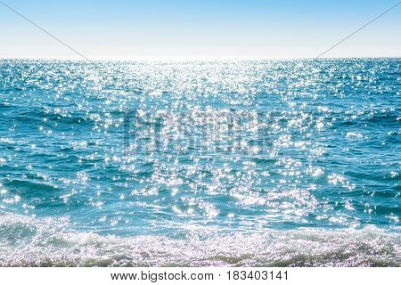 Sparkling Rippled Water Surface
