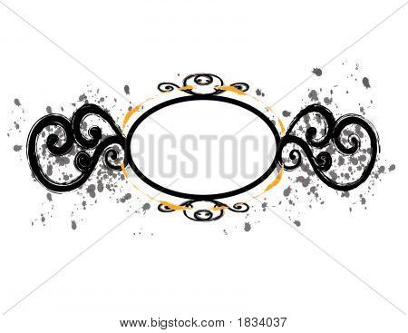 Black Circular Frame With Flourishes