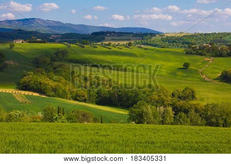 Rural countryside near Todi in Umbria, Italy