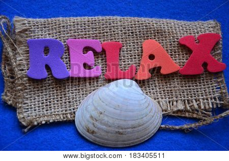 word relax on a  abstract colorful background