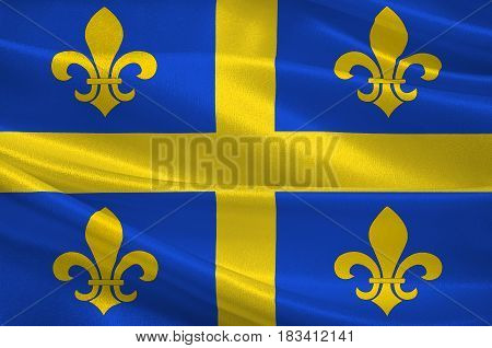 Flag of Chalons-en-Champagne is capital of Marne and the region of Champagne-Ardenne in France. 3d illustration