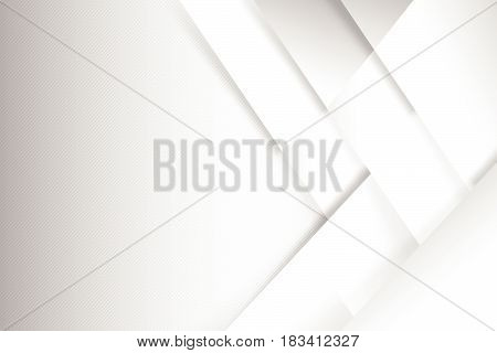 Abstract white and grey background basic geometry overlaps with shadow vector illustration eps 10