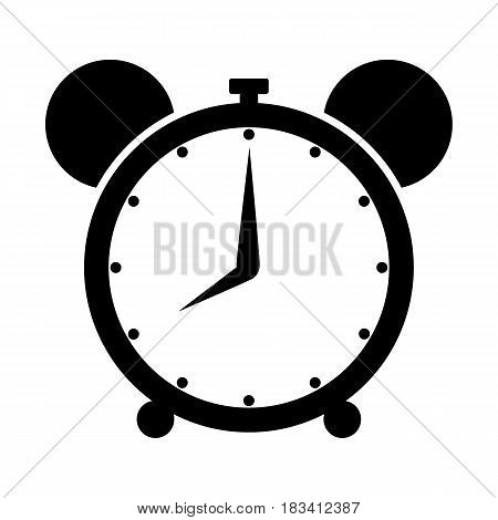 Alarm Clock icon vector icon, Wake up, get up concept, Time sign isolated on white background. Trendy Flat style for graphic design, Web site, UI.