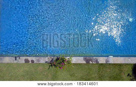 Beautiful water surface in pool flat lay