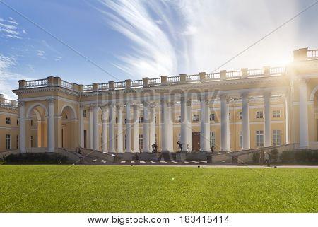 Pushkin suburb of St. Petersburg. Alexander Palace 18th century.
