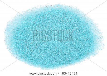 The blue sand heap on blue background