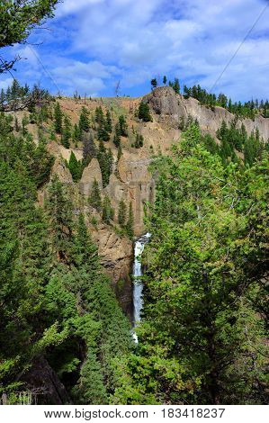 Tower Falls In Yellowstone