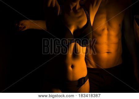 Sexy Slim Nude Couple