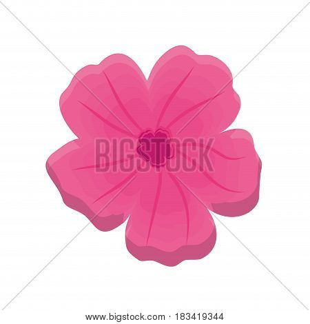 tropical flower icon over white background. colorful desing. vector illustration