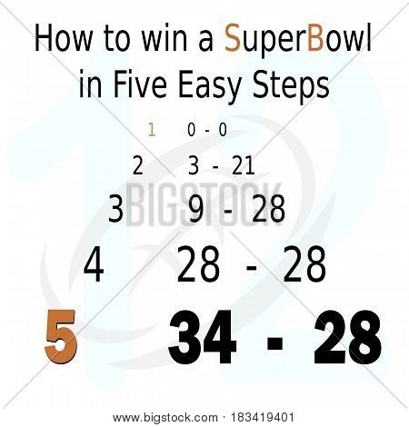 how to win a superbowl in five easy steps chaart