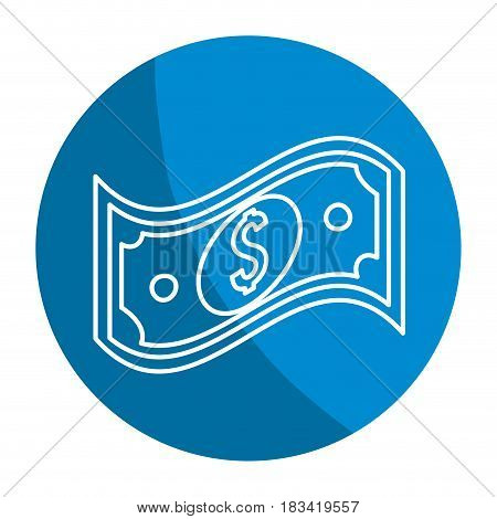 emblem bill dolar money, vector illustration design