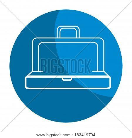 emblem elegant suitcase open, vector illustration design