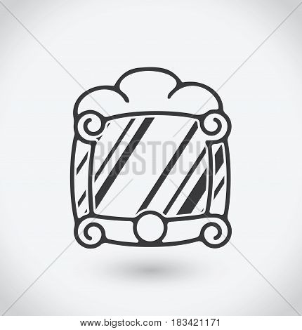 Mirror Icon on white background. With shadow.