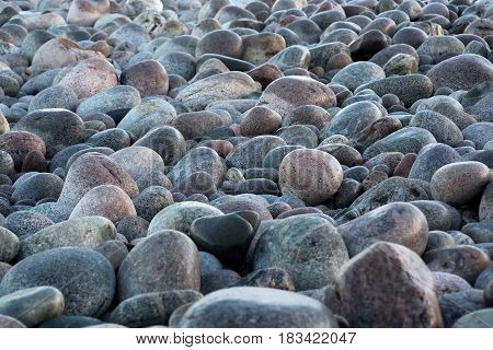 Big round rock stones. Nature texture background