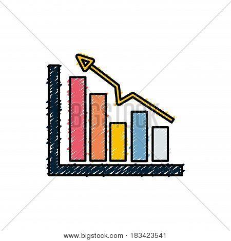 business statistic data growing diagram, vector illustration
