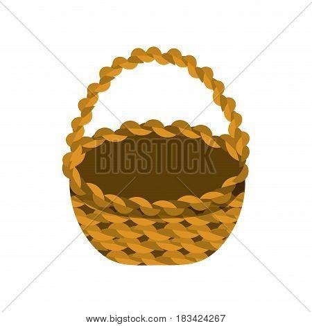 beautiful hamper to save food celebration, vector illustration