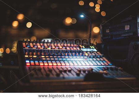 Music equipment for sound mixer control on party stage