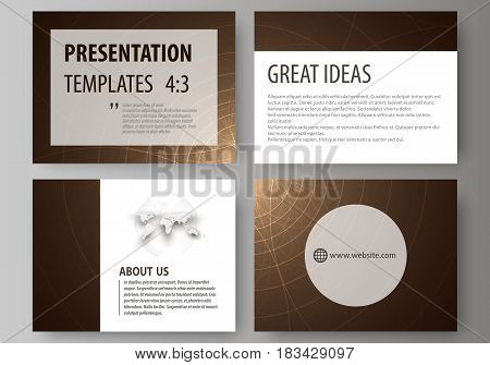 Set of business templates for presentation slides. Easy editable abstract vector layouts in flat design. Alchemical theme. Fractal art background. Sacred geometry. Mysterious relaxation pattern