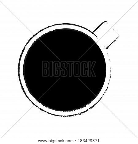 cup or mug topview icon image vector illustration design
